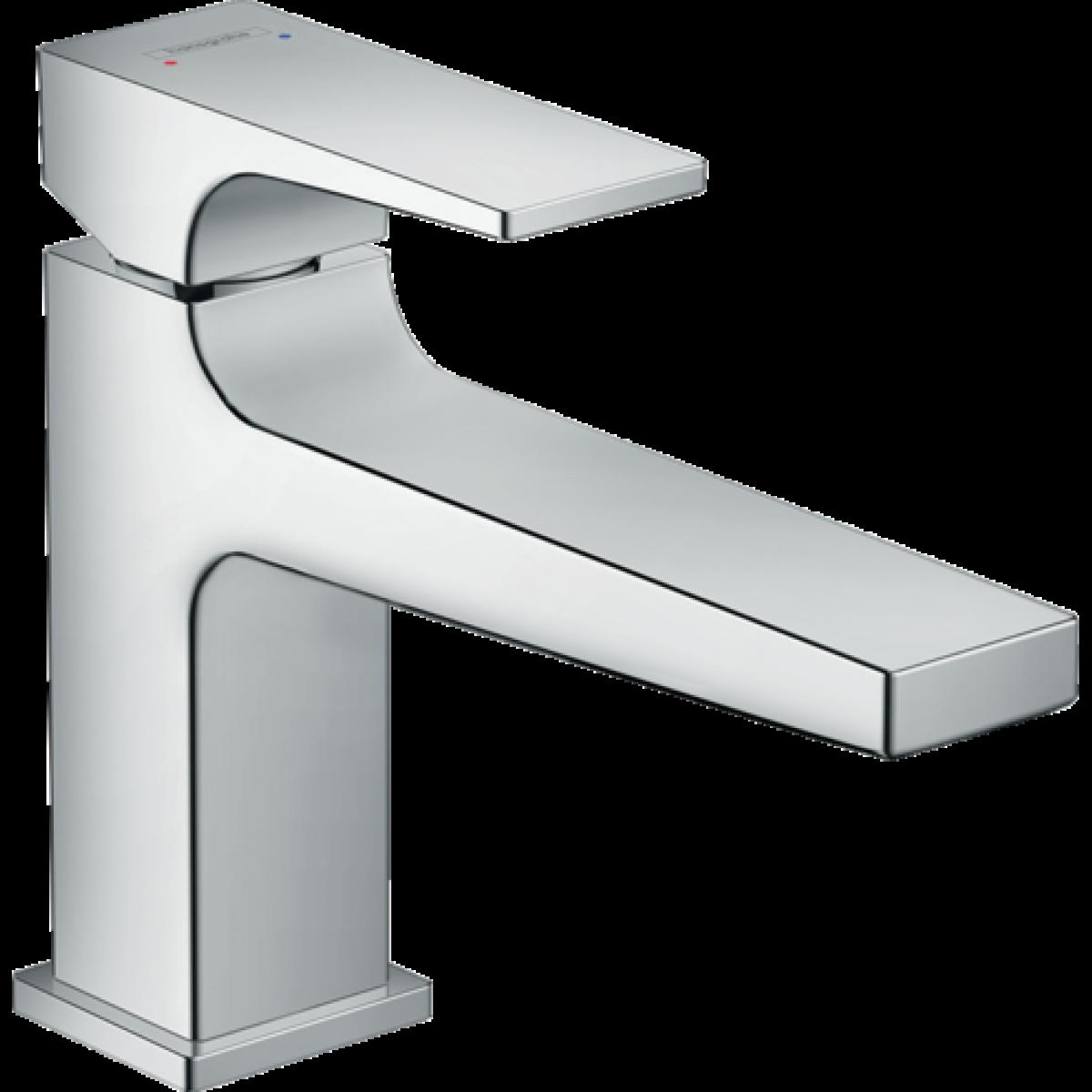 Hansgrohe Hansgrohe - Mitigeur de lavabo 100 Metropol poignée manette bec long bonde Push-Open finition chromé