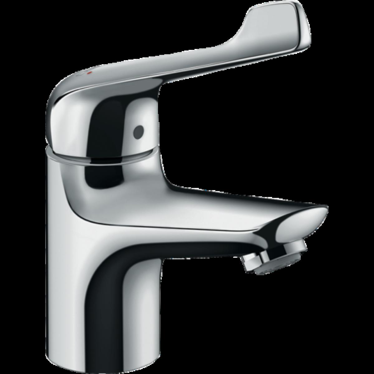 Hansgrohe Hansgrohe - Mitigeur de lavabo Novus 70 Care avec poignée extra longue, avec tirette et vidage finition chromé
