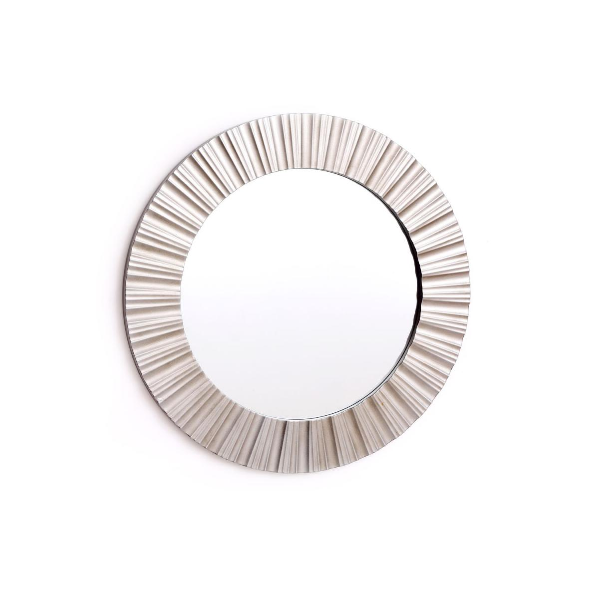 Heart Of The Home Miroir rond en métal design Champa - Diam. 50 cm - Argent