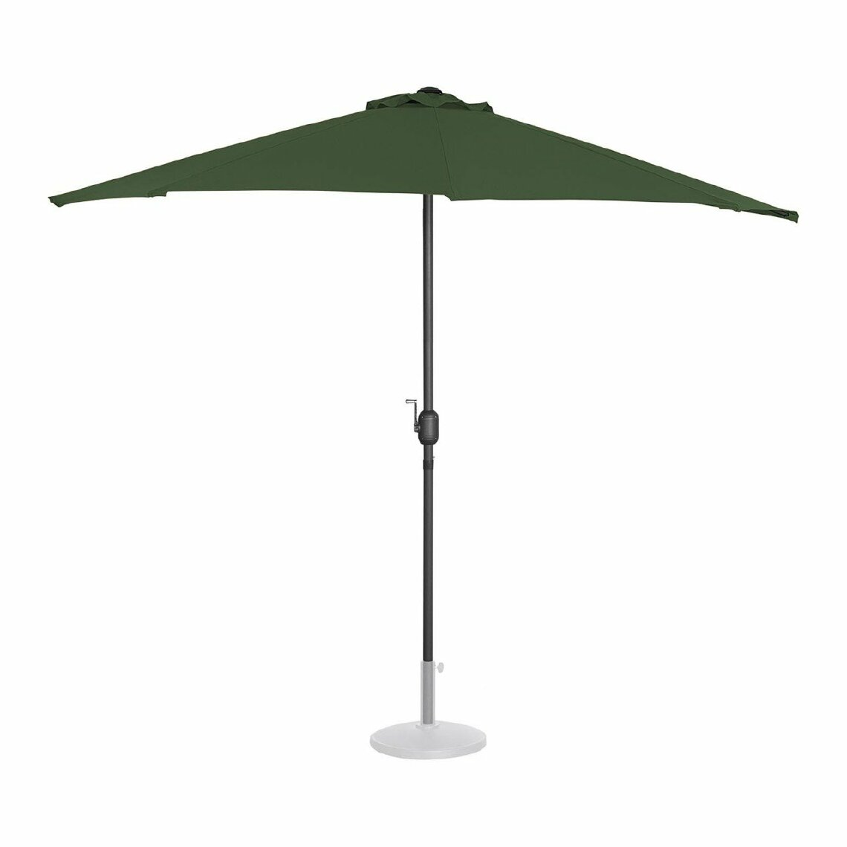 Helloshop26 Demi Parasol de jardin meuble abri terrasse pentagonal 270 x 135 cm vert 14_0001343