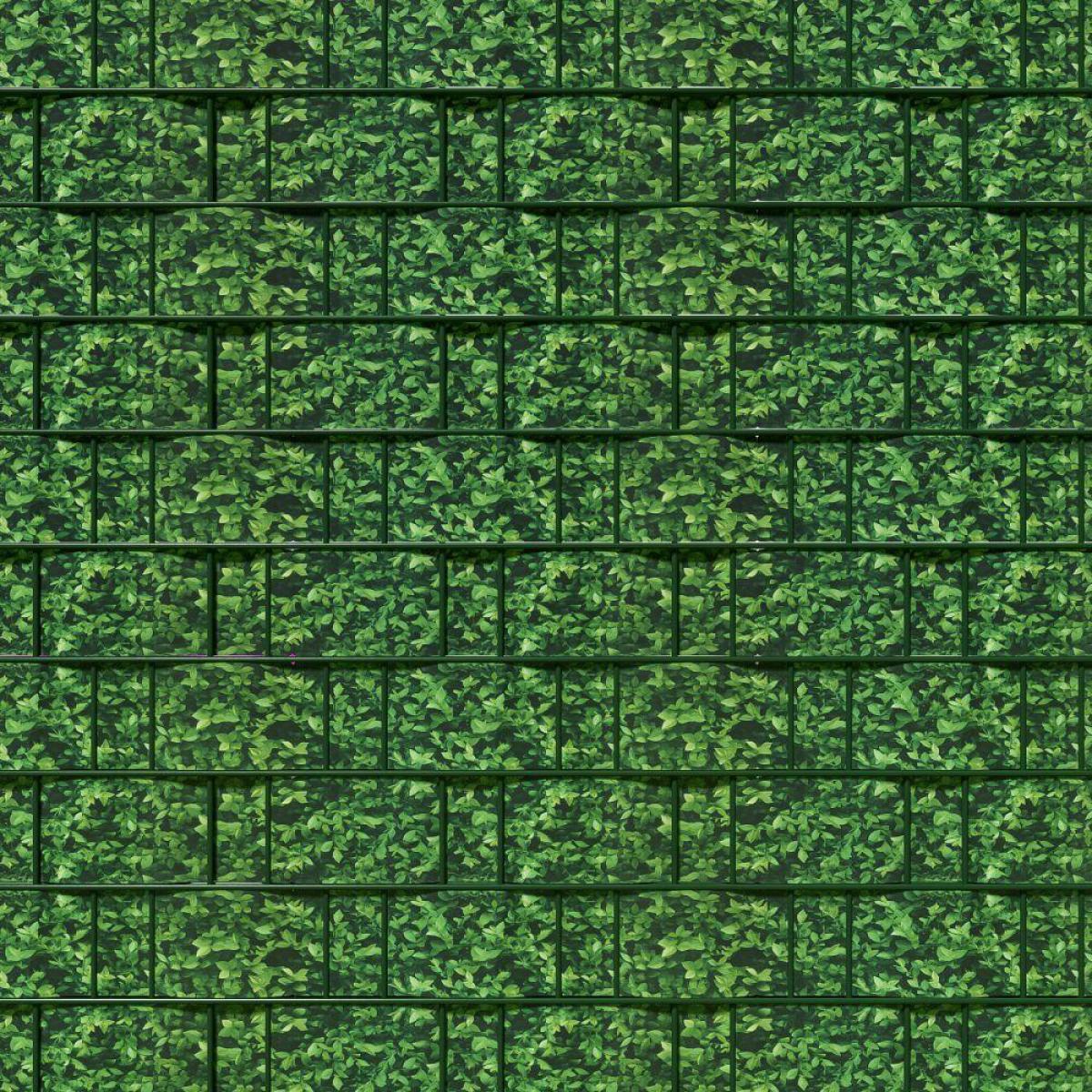 Helloshop26 Brise vue brise vent film anti regards clôture paravent PVC imprimé buis 70 m vert 2208222