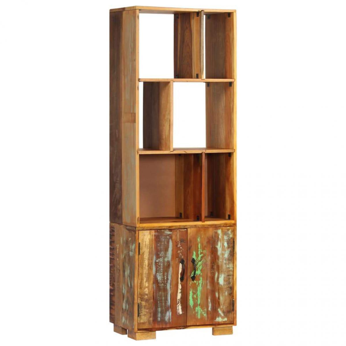 Helloshop26 Étagère armoire meuble design bibliothèque 180 cm bois de récupération solide 2702066/2
