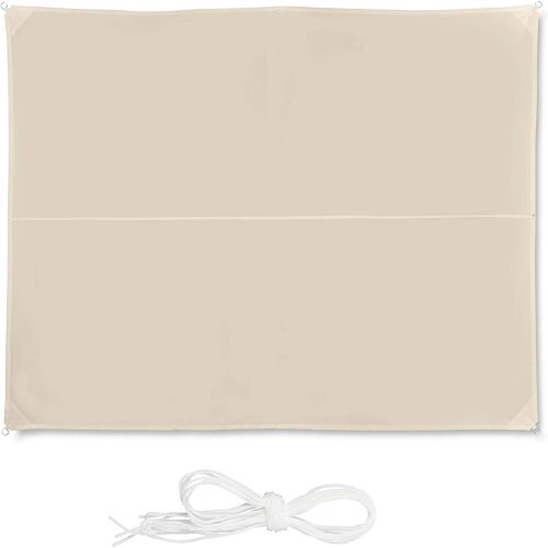 Helloshop26 - Voile d'ombrage rectangle 3 x 4 m beige 13_0002930_3 - Helloshop26