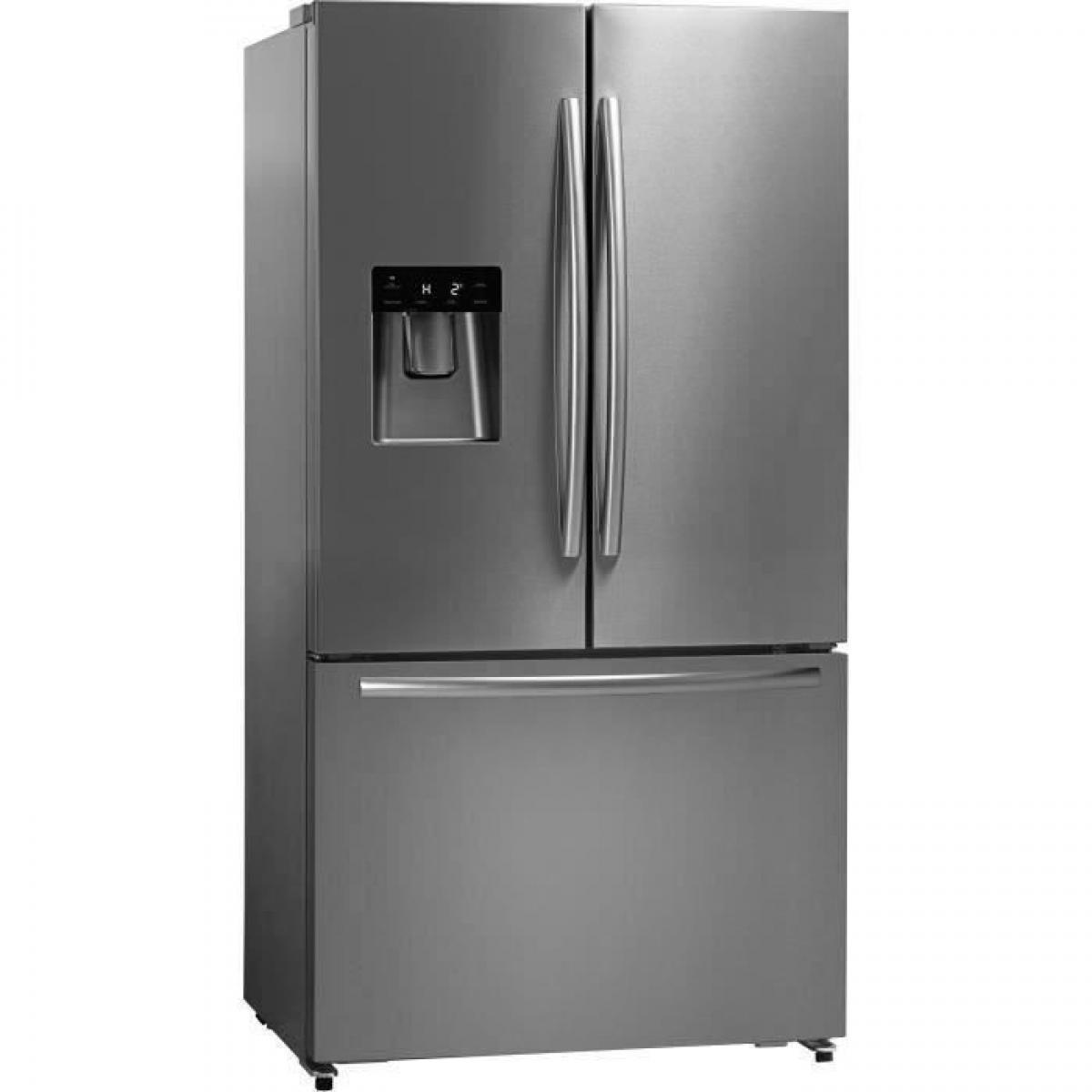 Hisense Hisense RF697N4ZSF - Réfrigérateur multi-portes - 536L (417L + 119L) - froid ventilé total - L91cm x H178cm - Inox