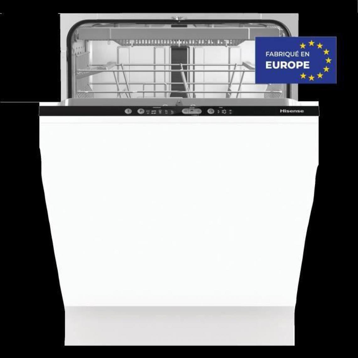 Hisense Lave vaisselle tout intégrable HISENSE HVSP3C - 16 couverts - Moteur induction - Largeur 60cm - 44dB