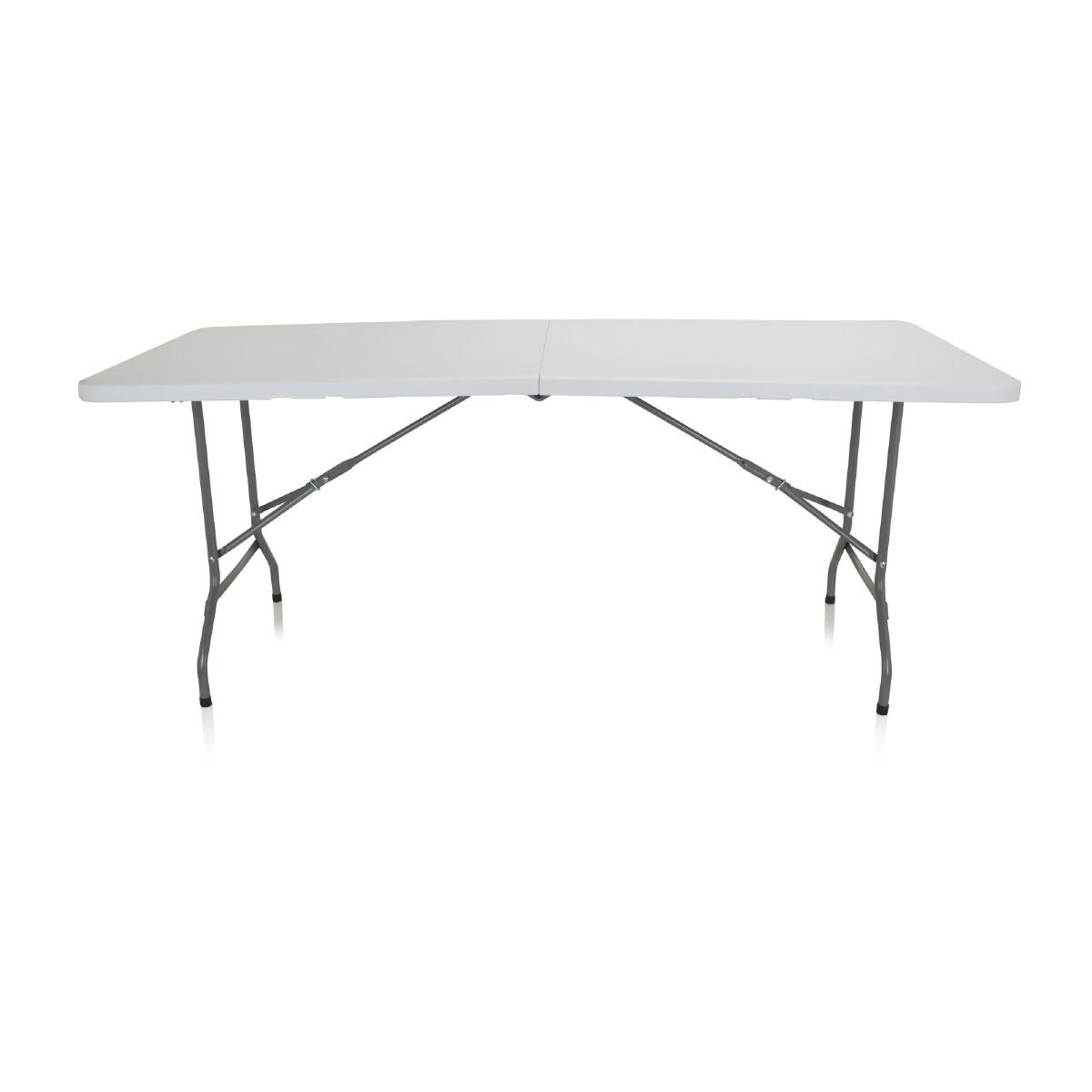 Hjh Office Table pliante EASY UP MULTI I 180 x 74 cm plastique blanc hjh OFFICE