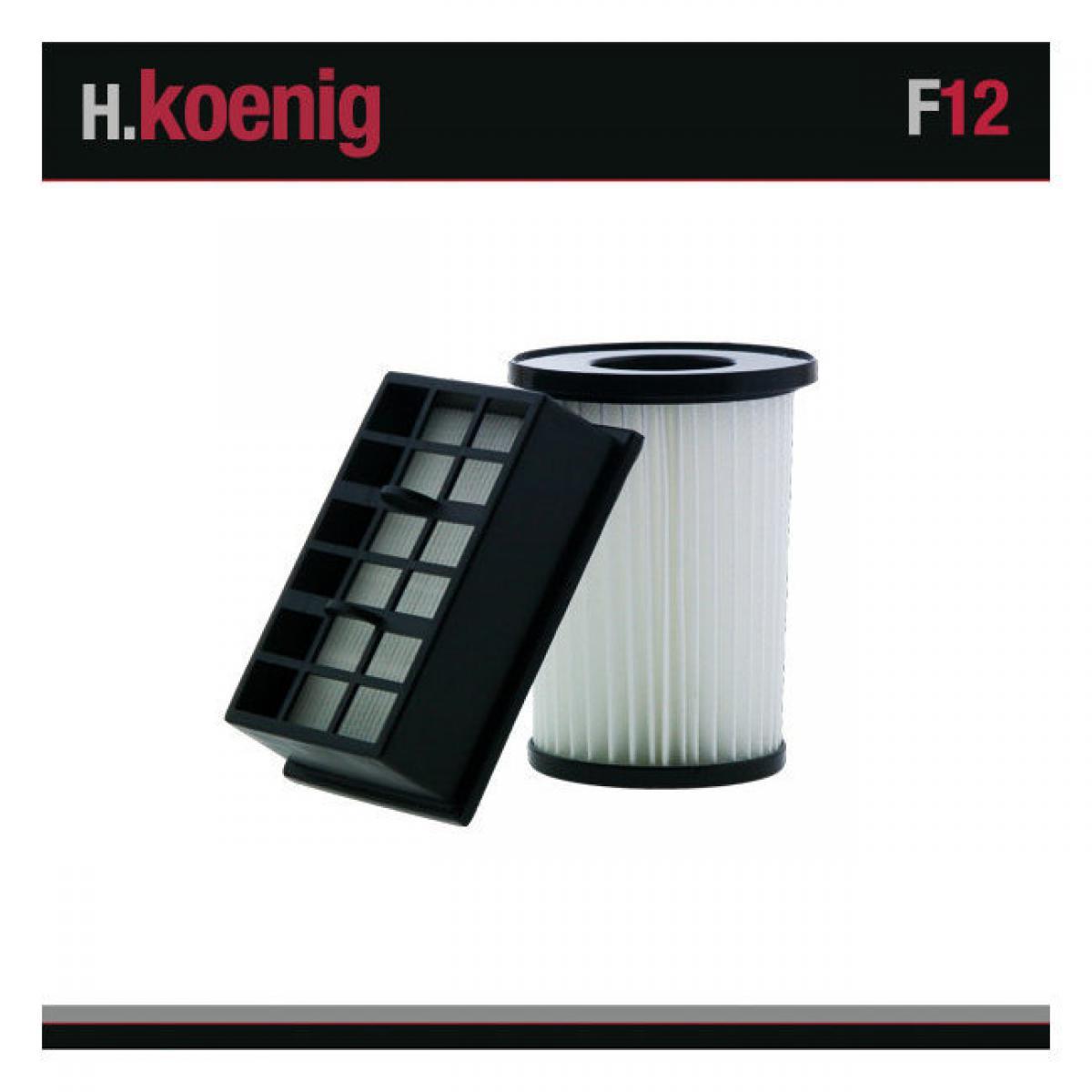 Hkoenig H.Koenig F12 Set de Deux Filtre Aspirateur HUGO FT30
