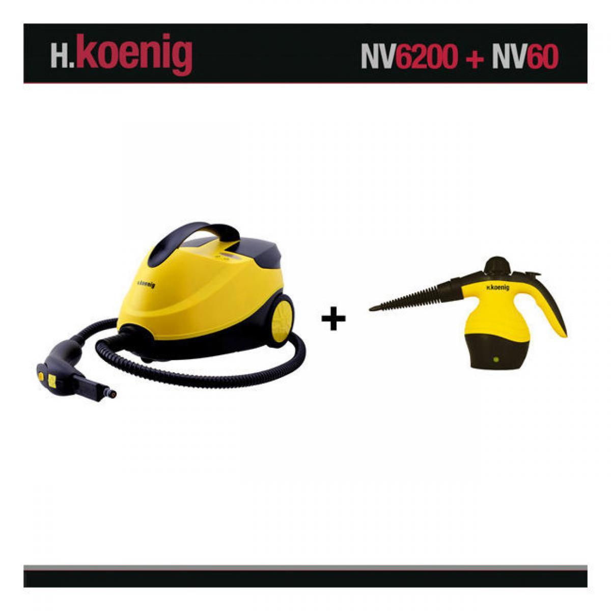 Hkoenig HKOENIG NV6200+NV60 NETTOYEUR VAPEUR 2000W 4 BARS + NETTOYEUR COMPACT