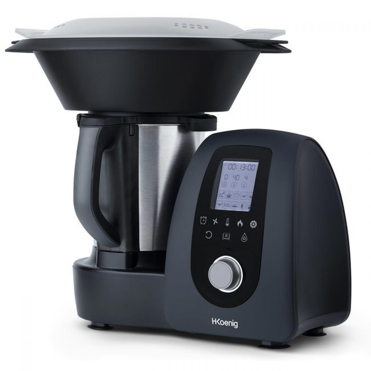 Hkoenig H.KOENIG - Robot de cuisine multifonction, 1000 W, 15 programmes de cuisson, 10 vitesses, 2