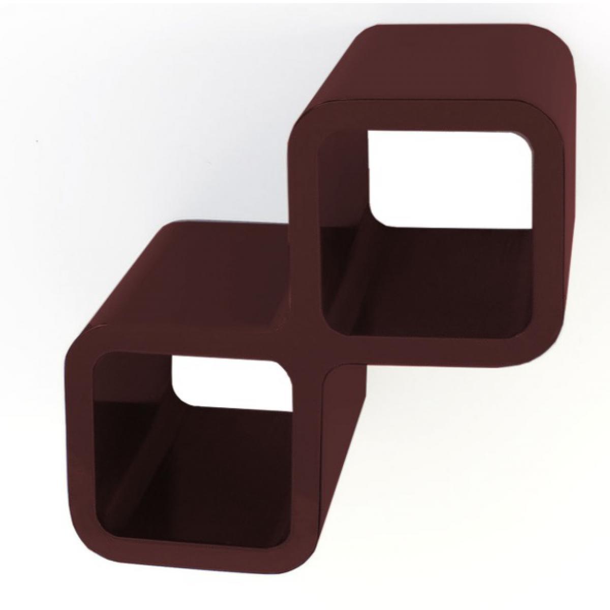 Homestyle4U Etagere mur cubes Bouteilles de vin brun fonce