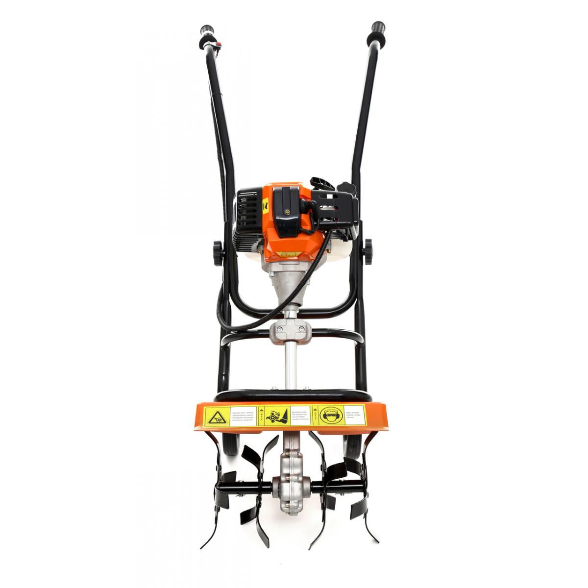 Hucoco DCRAFT | Motobineuse à essence 52 cm³ puissance: 3,8KW | Outil jardinage thermique | Fraises robustes | Régime: 6500 to