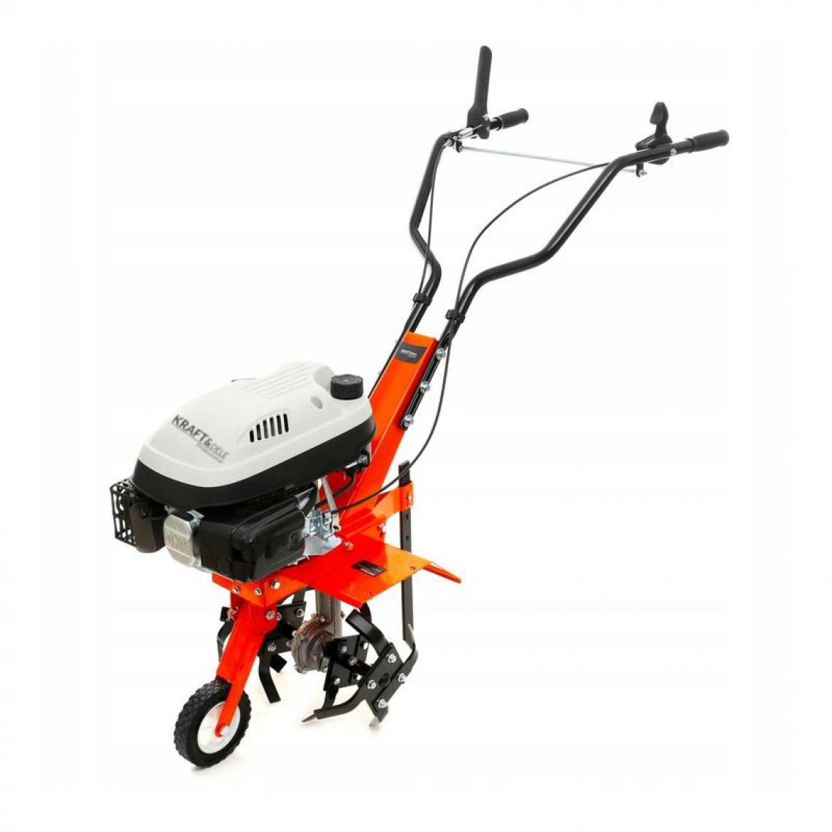 Hucoco DCRAFT | Motobineuse thermique 139 cm3 puissance 3.6 kW | Outil jardinage | Fraises robustes | Régime 3000 tours/minute