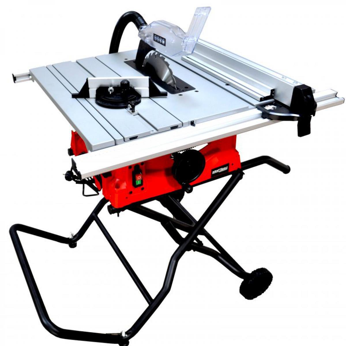 Hucoco DCRAFT | Scie sur table | Puissance nominale 2800 W | Régime de ralenti 5000 min-1 | Scie coupe bois | Atelier bricolage