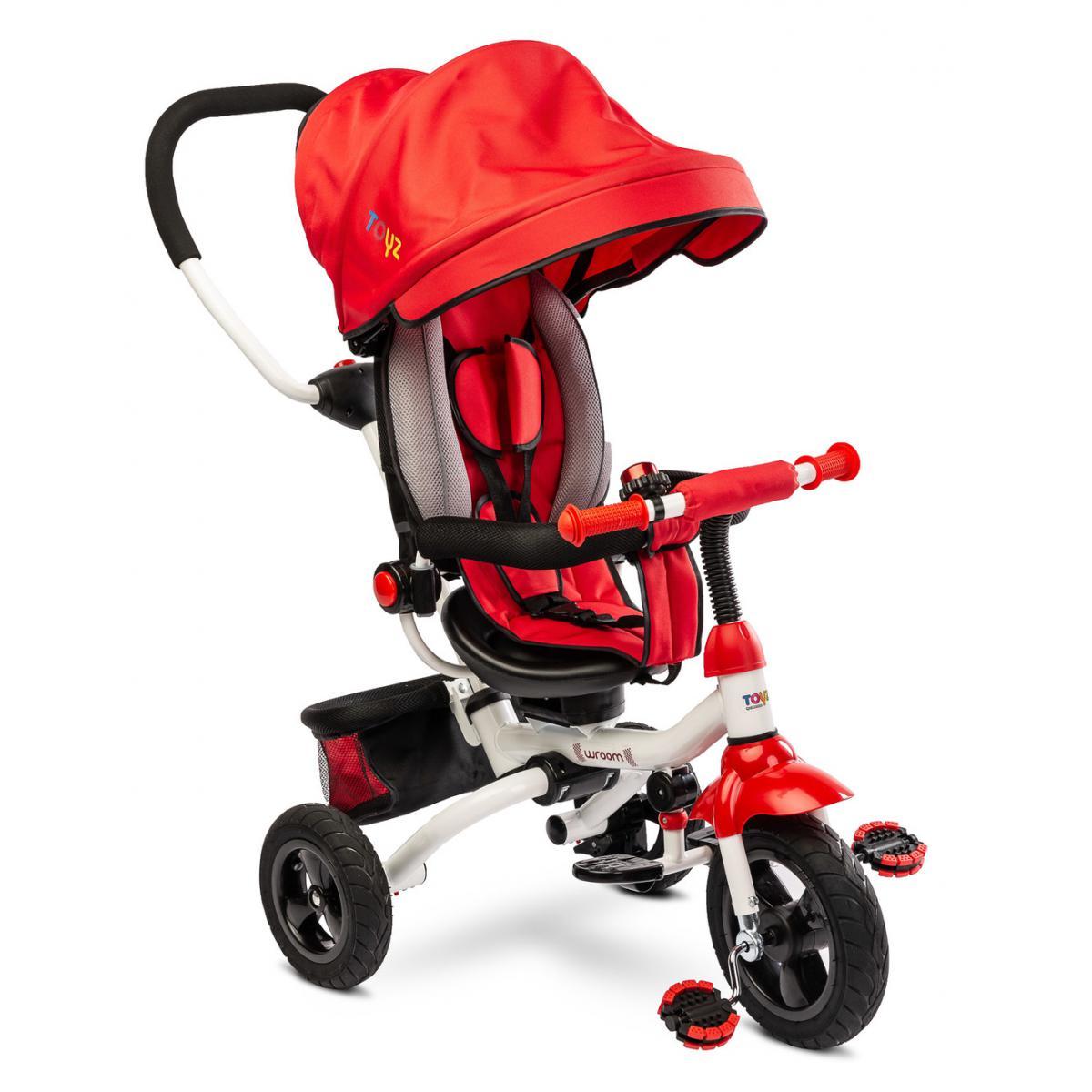 Hucoco SOMMI - Vélo tricycle - Âge 3-5 ans - Harnais de sécurité - 2 freins indépendants - Roues en mousse - Vélo enfants - Rou