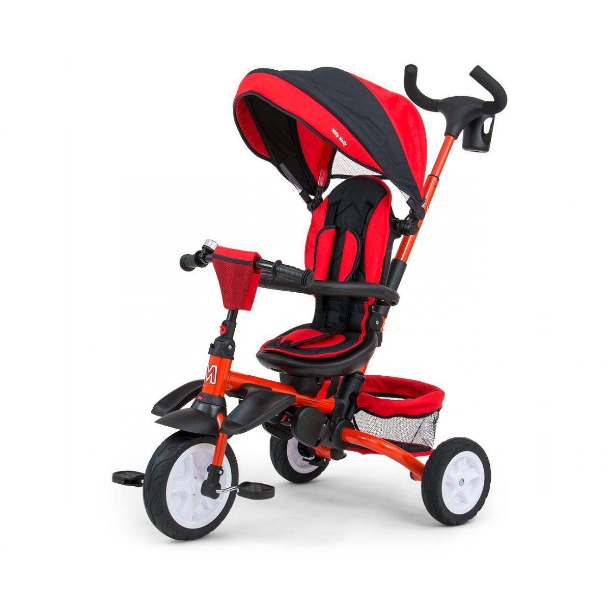 Hucoco STANLEY   Tricycle évolutif bébé/enfant   Âge : 1-5 ans   Siège pivotant 360°   Harnais de sécurité   Charge max 25 kg -