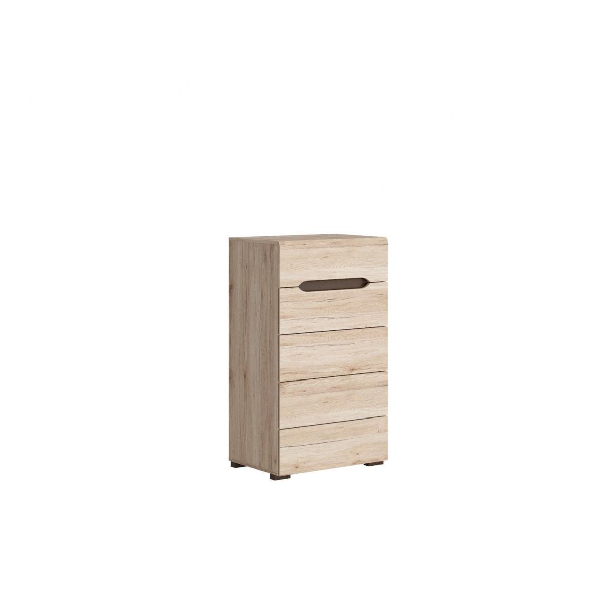 Hucoco SUZANNI | Commode pour salon chambre adulte | Style scandinave | 104,5 x 60 x 41,5 cm | Tiroirs | Taille compacte - Chên