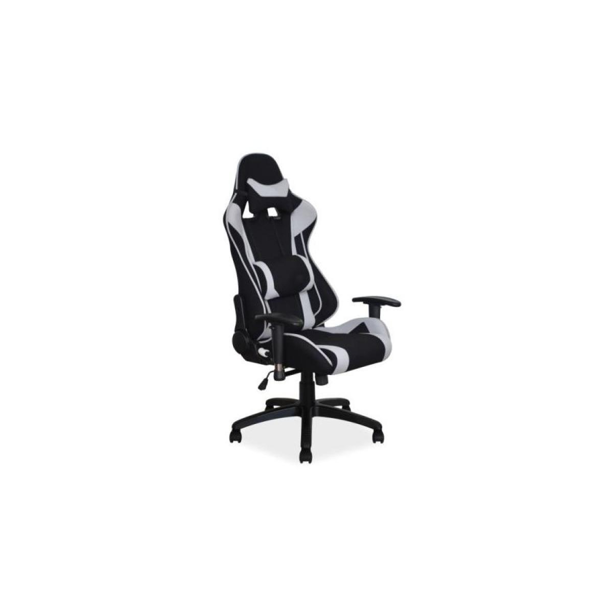 Hucoco VITER | Fauteuil pivotant gaming bureau | Hauteur réglable 127-135 cm | 2 coussins | Mécanisme TILT | Chaise bureau -