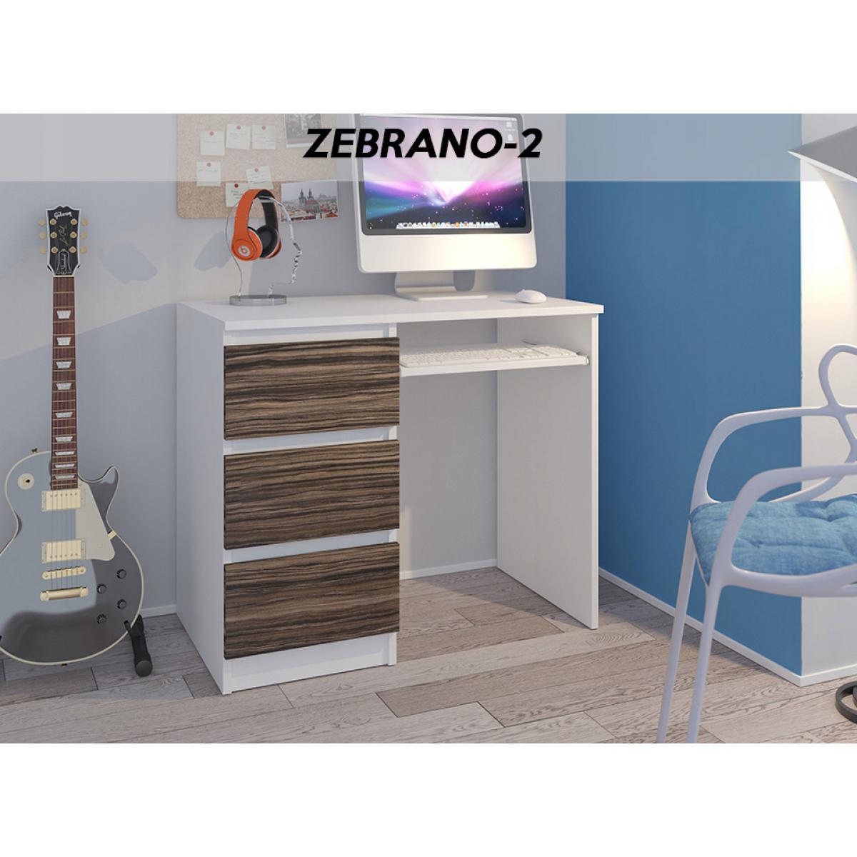 Hucoco YORK W2L| Bureau moderne informatique d'ordinateur 96x50x76 | Chambre Ado | Support clavier/3 tiroirs | Mobilier travail