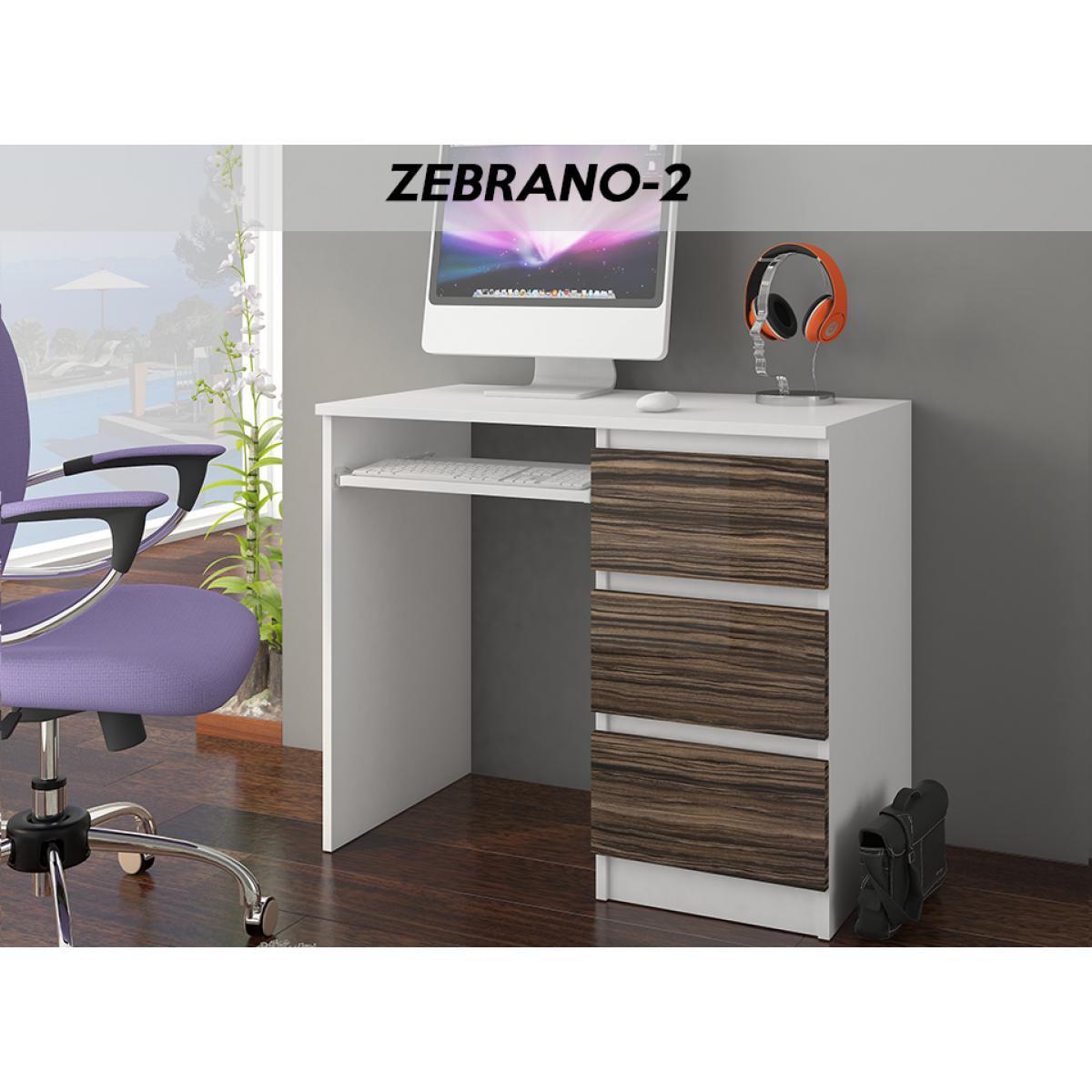 Hucoco YORK W2R| Bureau moderne informatique d'ordinateur 96x50x76 | Chambre Ado | Support clavier/3 tiroirs | Mobilier travail