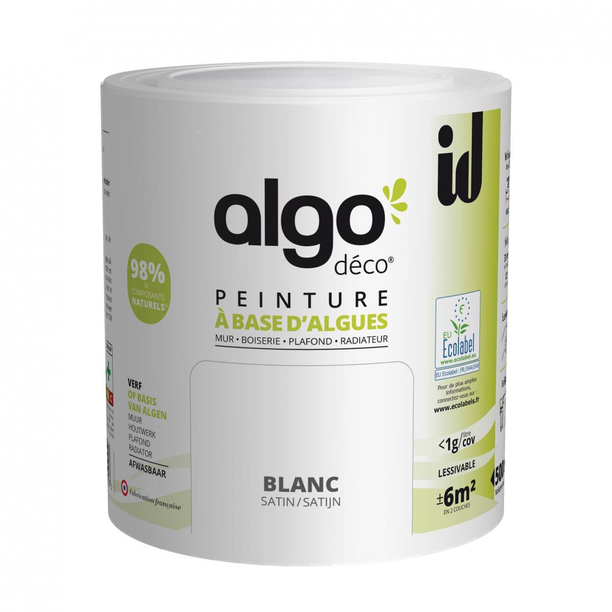 Id Paris Peinture à base d'algues ALGO SATIN BLANC 5L