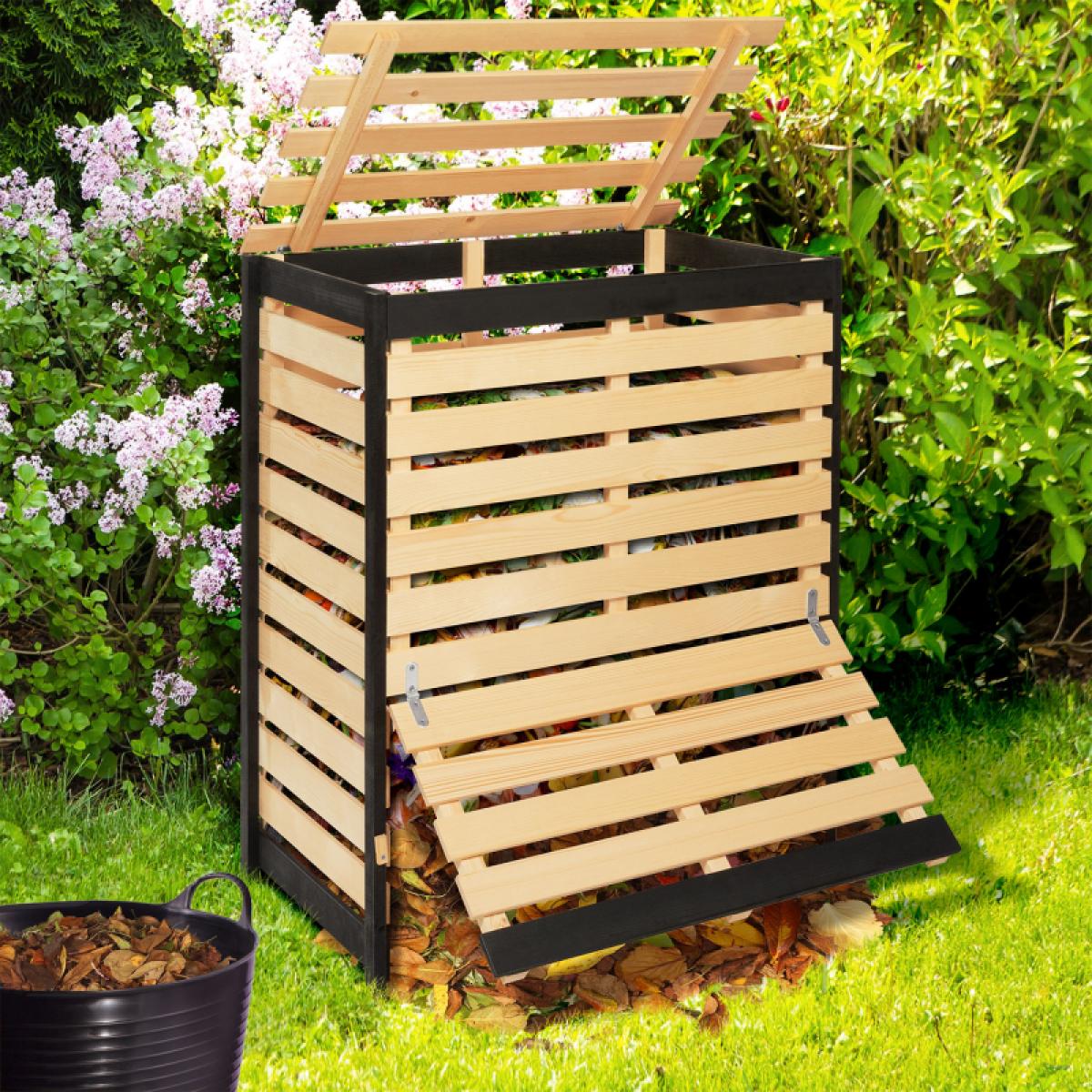 Idmarket Bac de compostage en bois 400L