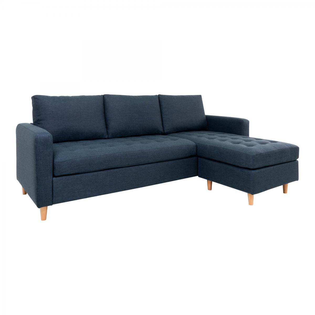 House Nordic Canapé Lounge FIRENZE Bleu Foncé Piètement Naturel Obtenez un salon classe avec leCanapé Lounge FIRENZE Bleu Foncé PiètementNaturel. Un canapé d'angle confortable qui pourra s'incorporer dans tous vos styles d'intérieur grâce à sa belle et