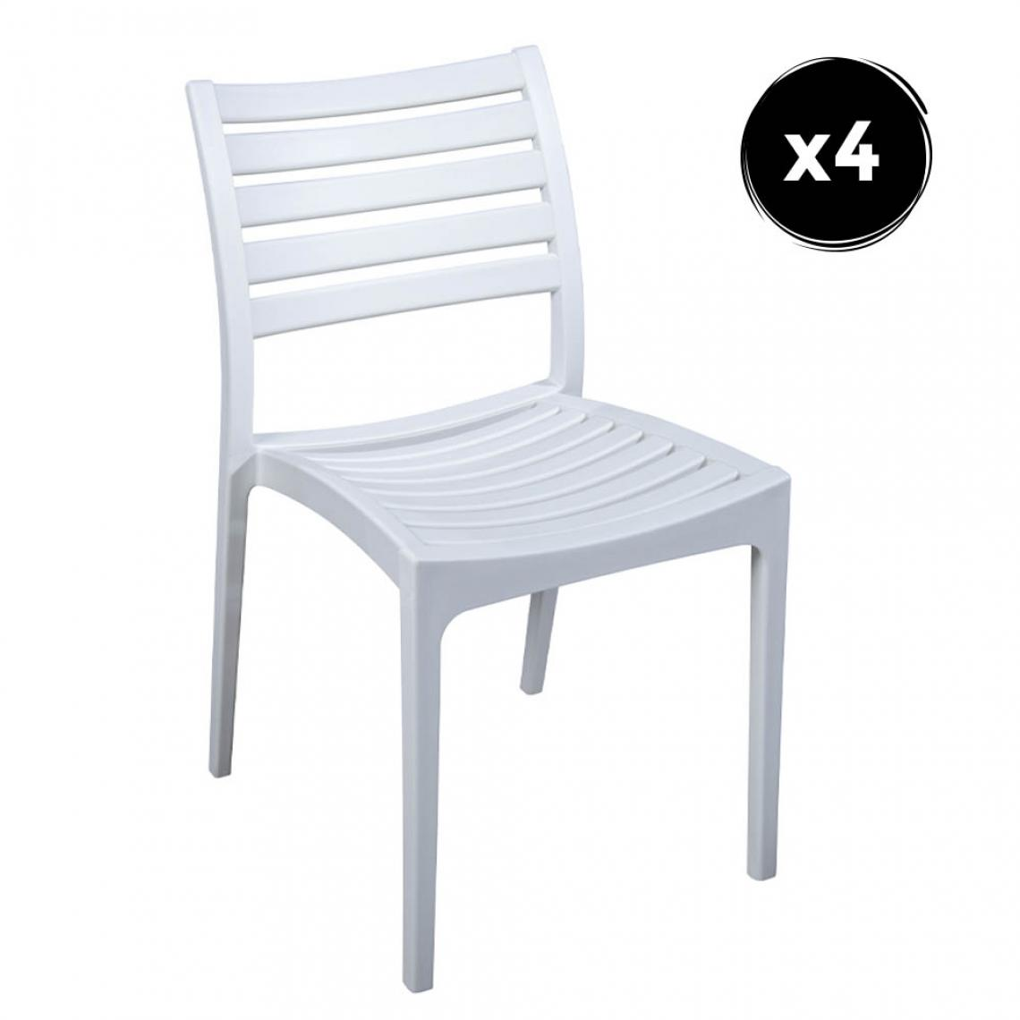 Imperial Relax Pack 4 Chaise Quebec Blanc Polipropilene