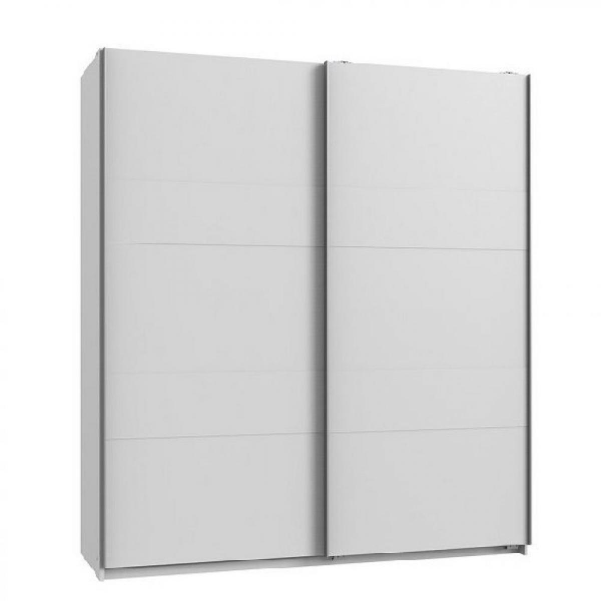 Inside 75 Armoire de rangement AUDE portes coulissantes 135 cm blanc mat