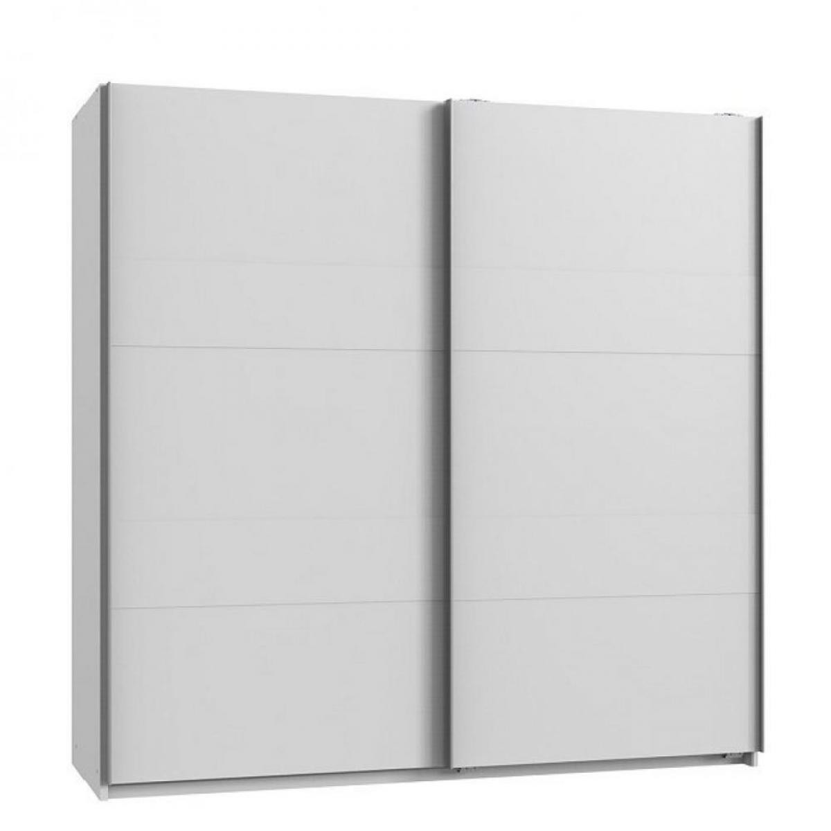 Inside 75 Armoire de rangement AUDE portes coulissantes 179 cm blanc mat