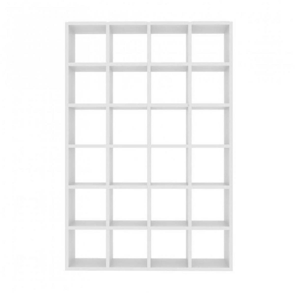 Inside 75 bookcases design POMBAL blanc 24 cases
