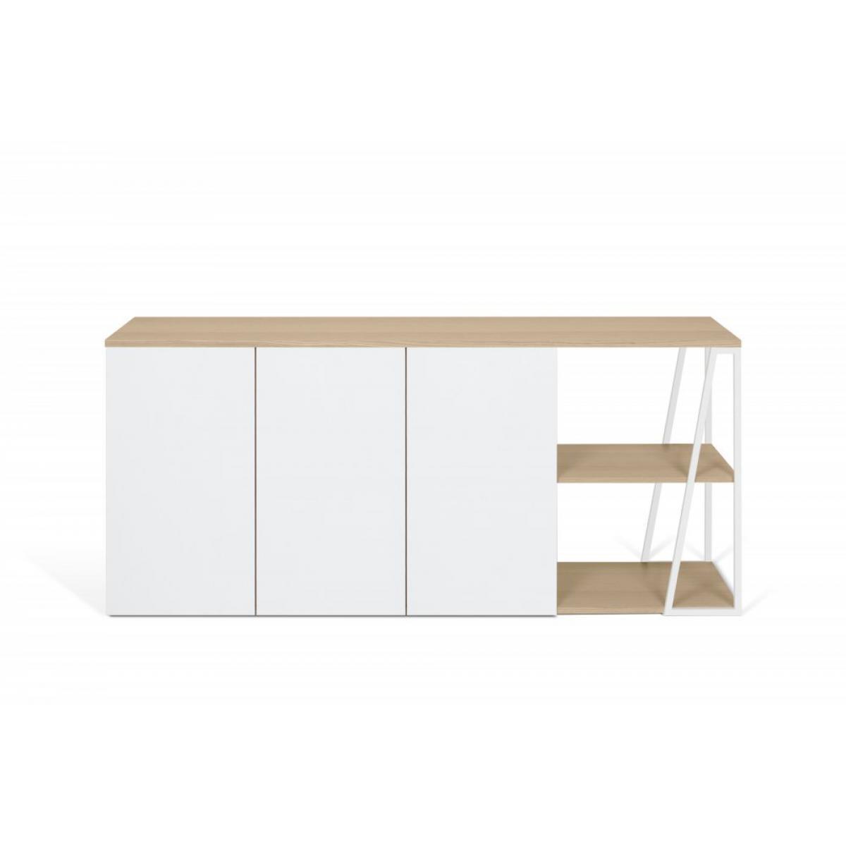Inside 75 Buffet design ALBI Chêne/blanc