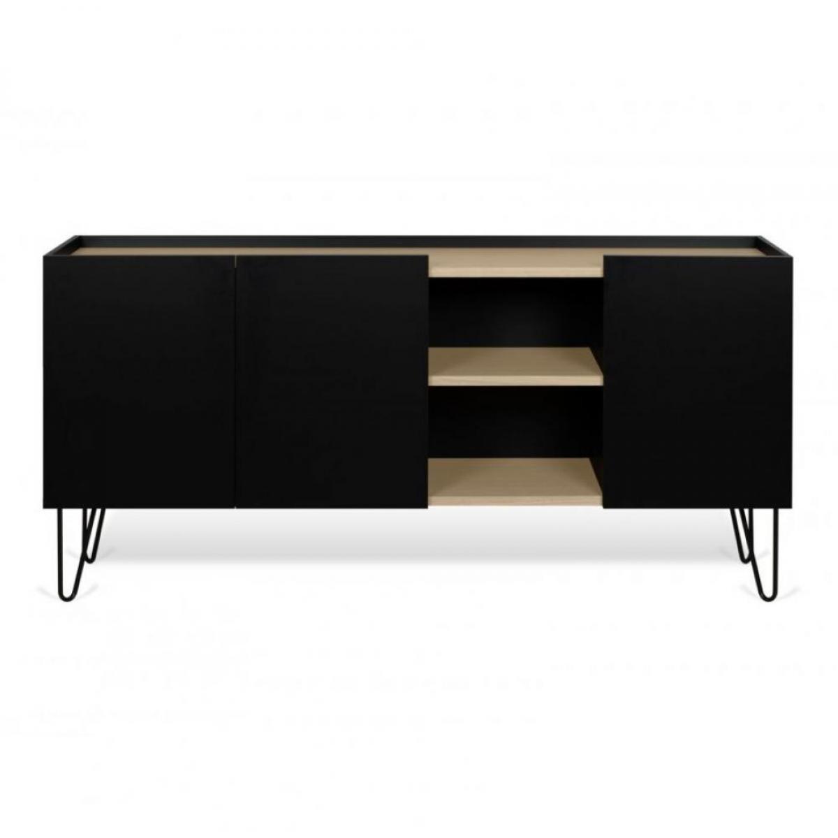 Inside 75 Buffet design NINA Chêne clair et noir 180cm