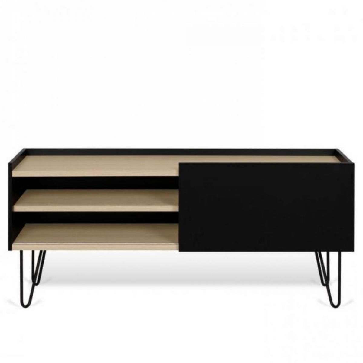 Inside 75 Meuble TV design NINA Chêne clair et noir