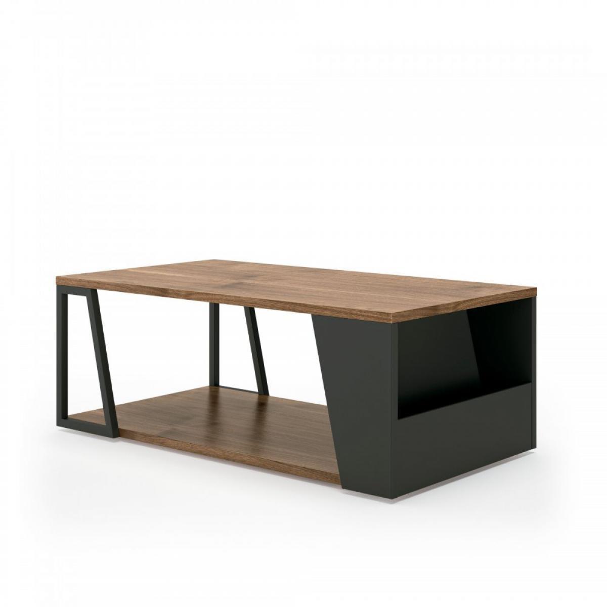 Inside 75 Table basse Design ALBI Noyer/Noir