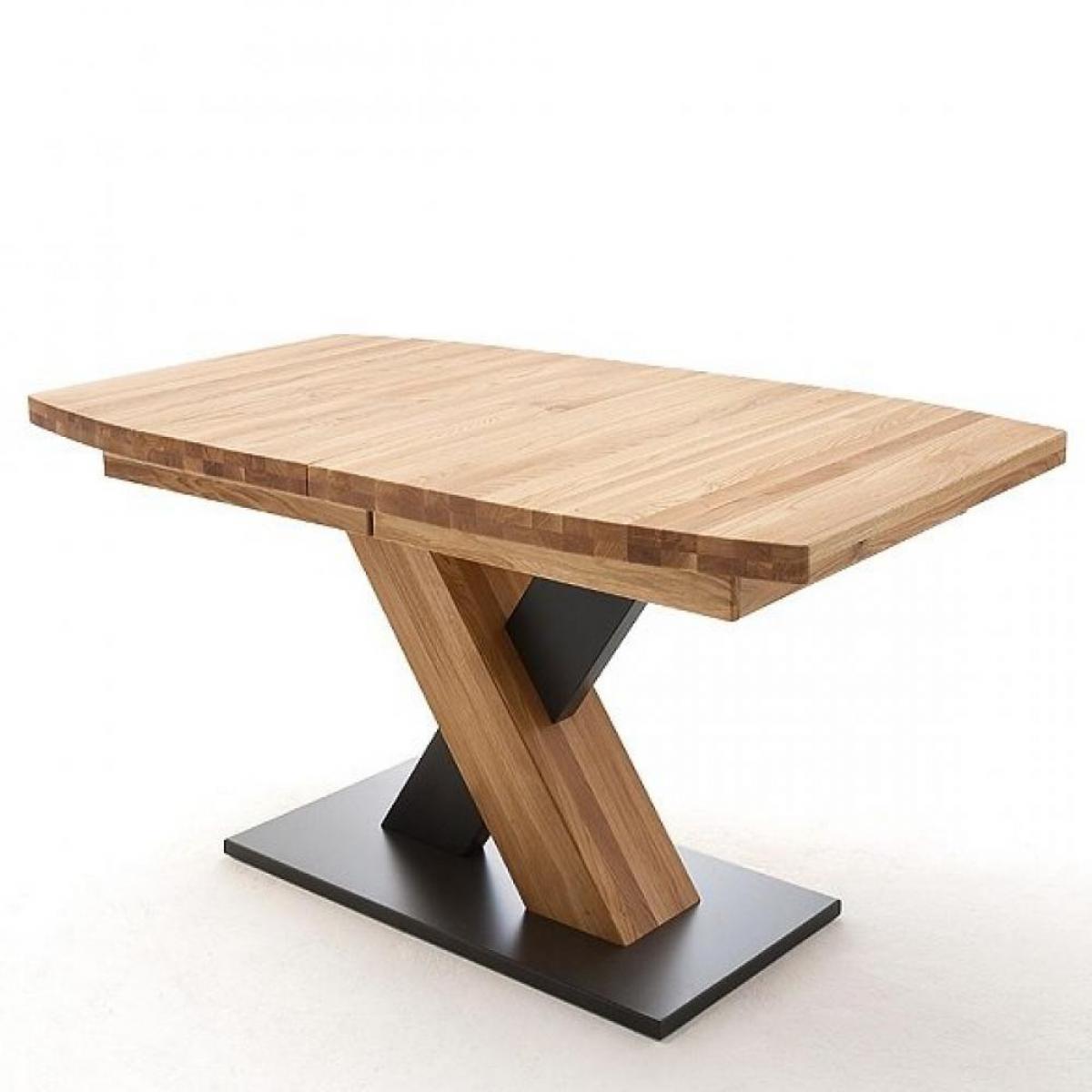 Inside 75 Table extensible MELERO 180 x 100 cm chêne sauvage huilé massif