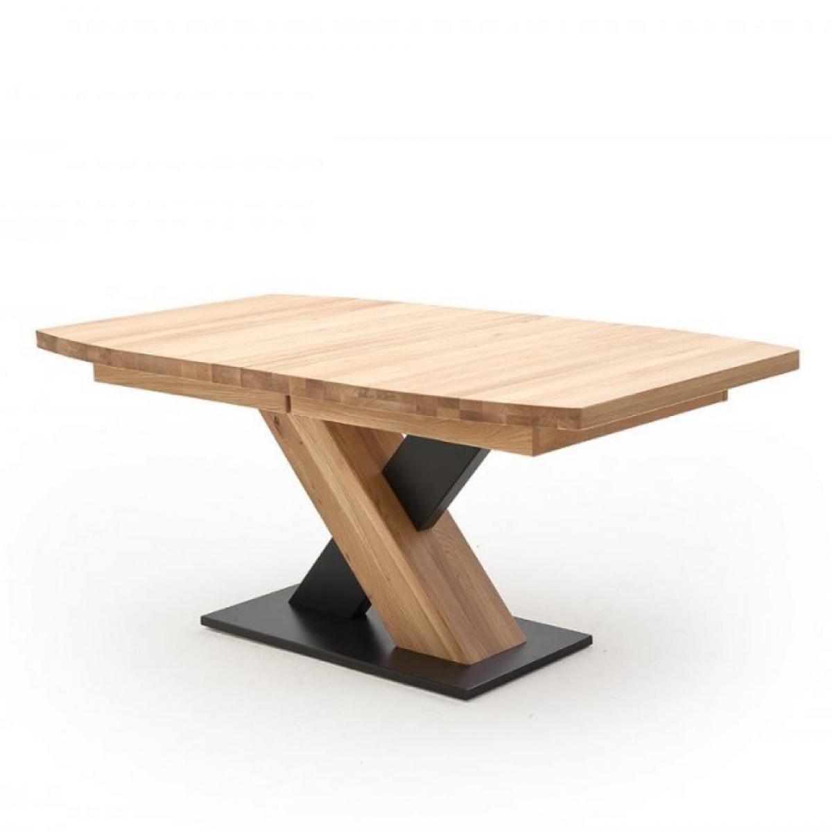 Inside 75 Table repas extensible MEUDON 180/270 x 90 cm chêne blanchi massif