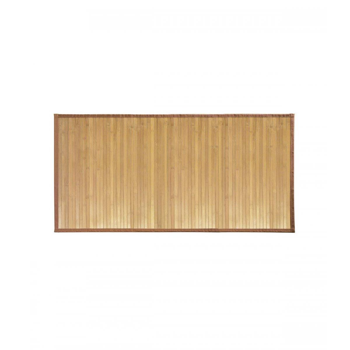 Interdesign Tapis de bain en bambou brun clair 122 x 61 cm