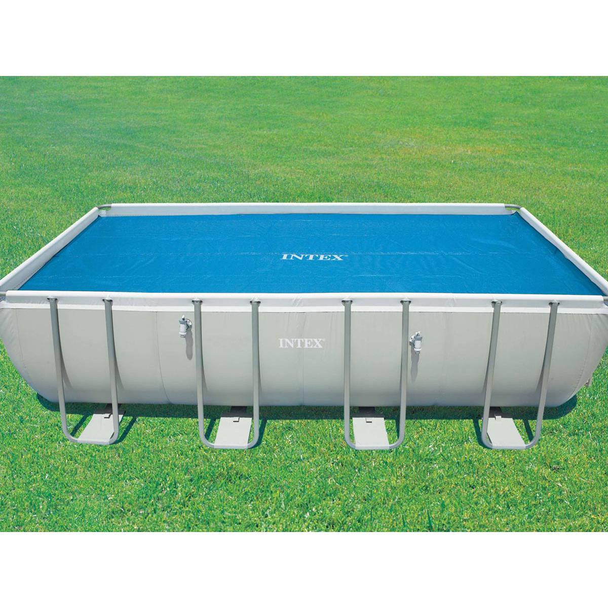 Intex Bâche à bulles pour piscine tubulaire rectangulaire 5,49 x 2,74 m - Intex