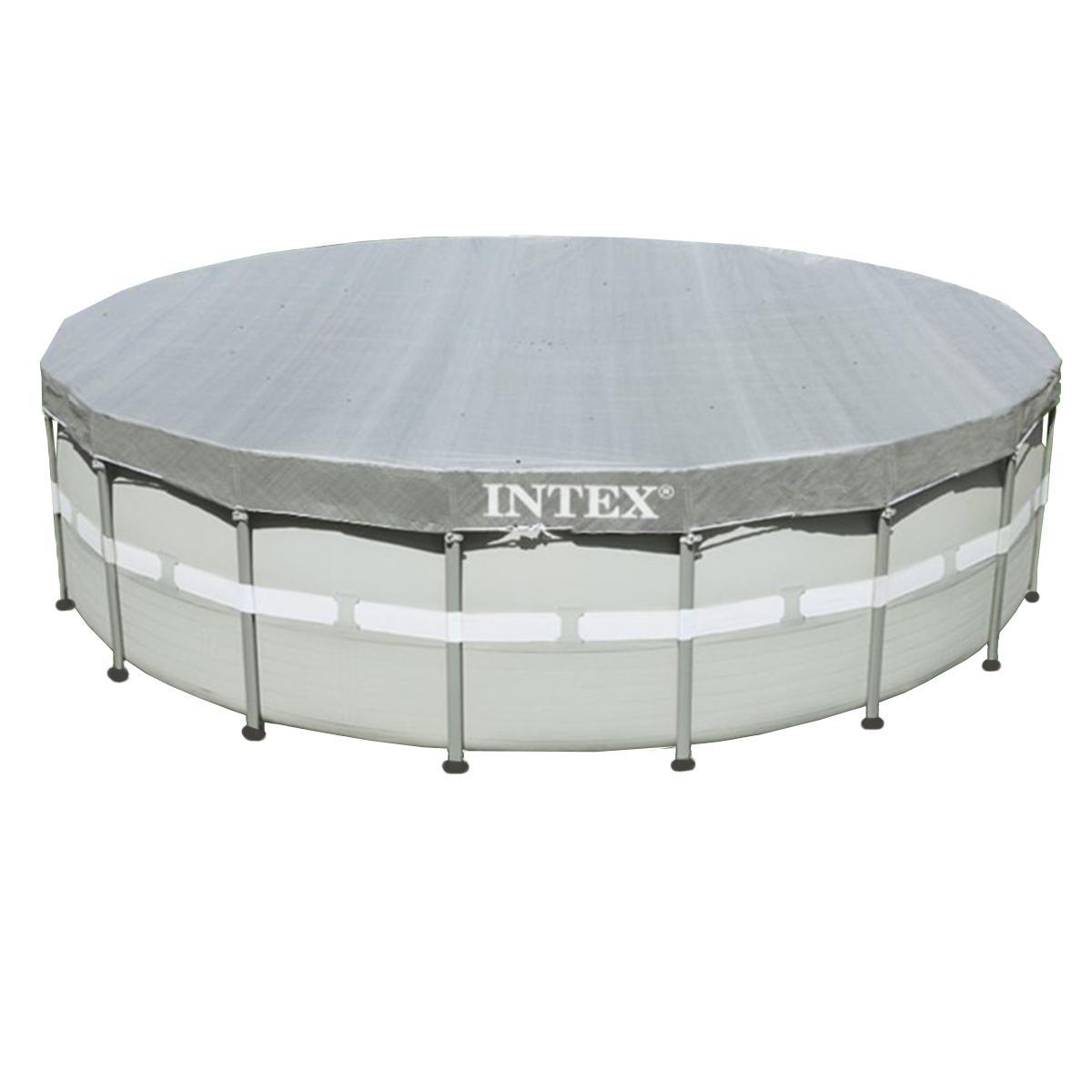 Intex Bâche de protection Deluxe pour piscine tubulaire ronde Ø 5,49 m - Intex