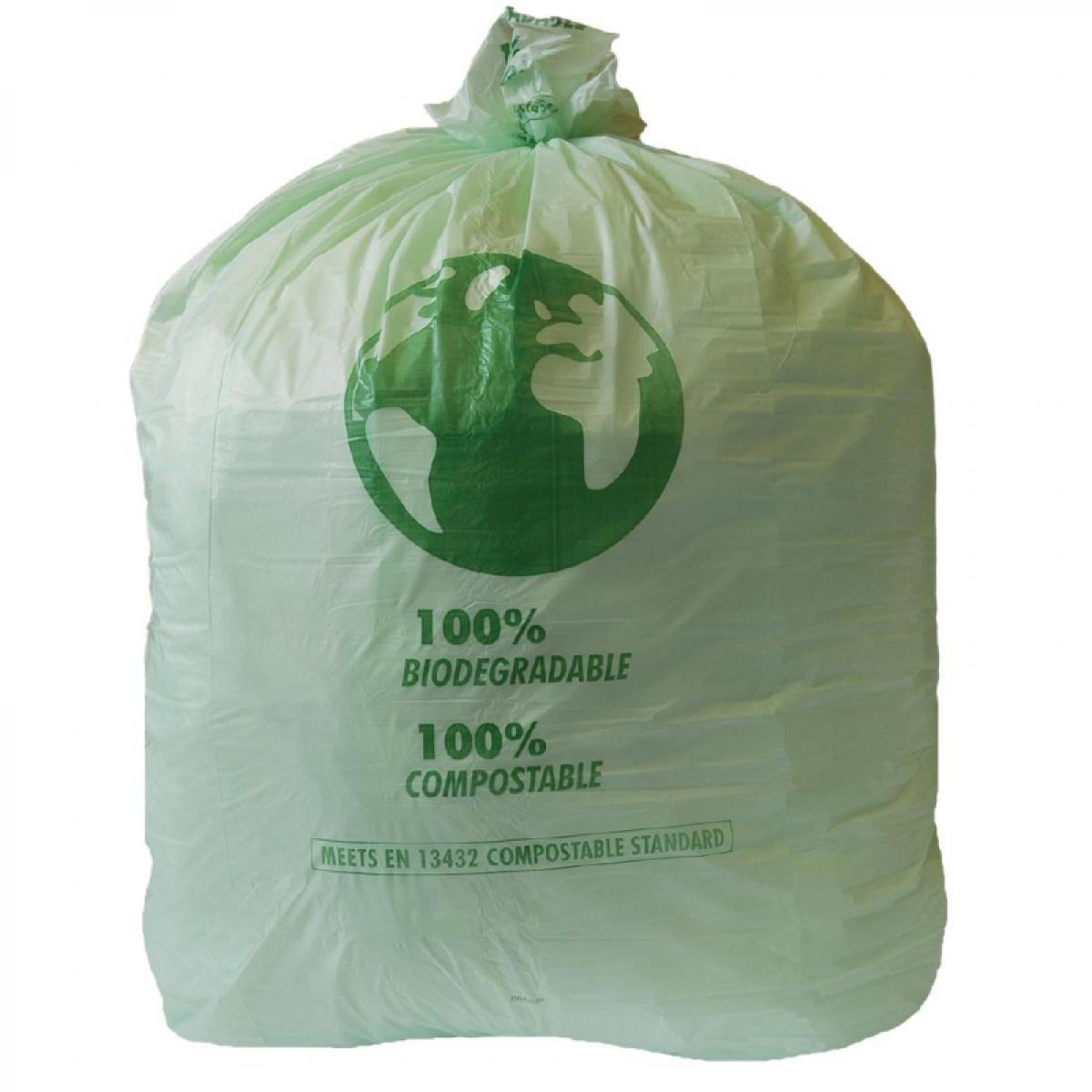 Jantex Sac Poubelle Compostable - 90 Litres - Lot de 20 - Jantex - Acide polyactique (PLA)