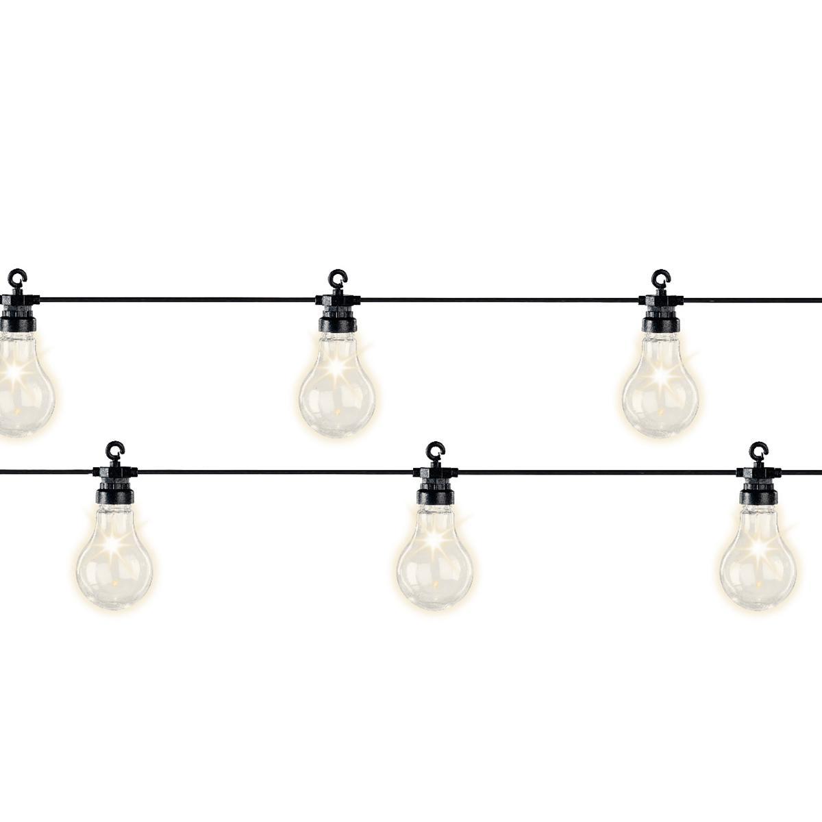 Jardideco Guirlande lumineuse 20 Led ampoules XL - Blanc chaud