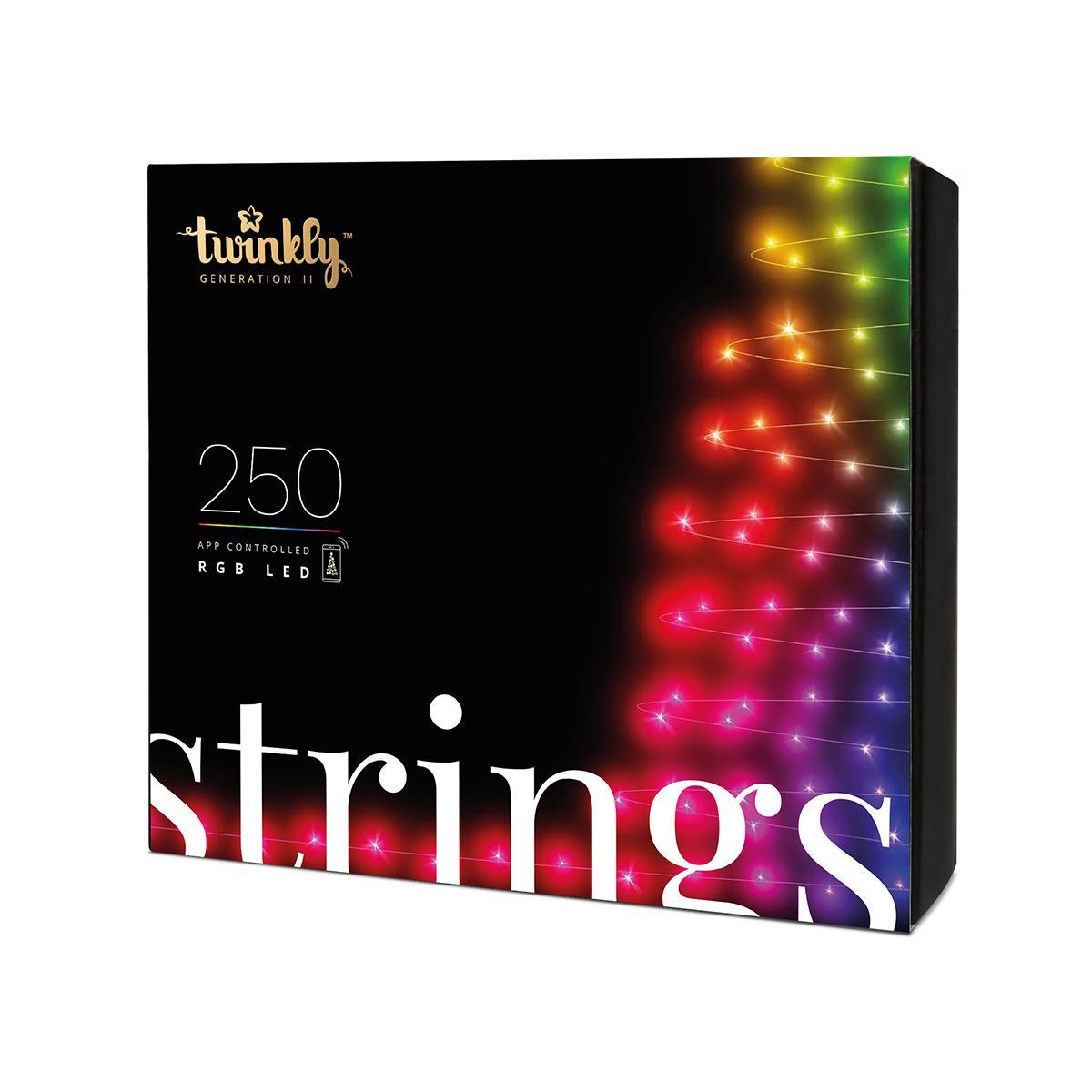 Jardideco Guirlande lumineuse Connectée 250 Leds RGB 20m pour Sapin de Noël - TWINKLY