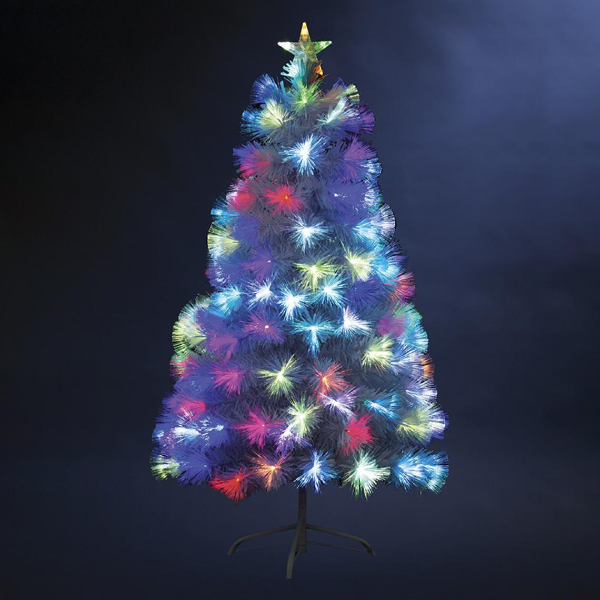 Jardideco Sapin de Noël en fibre optique - 54 x 54 cm x H 90 cm - Varsovie