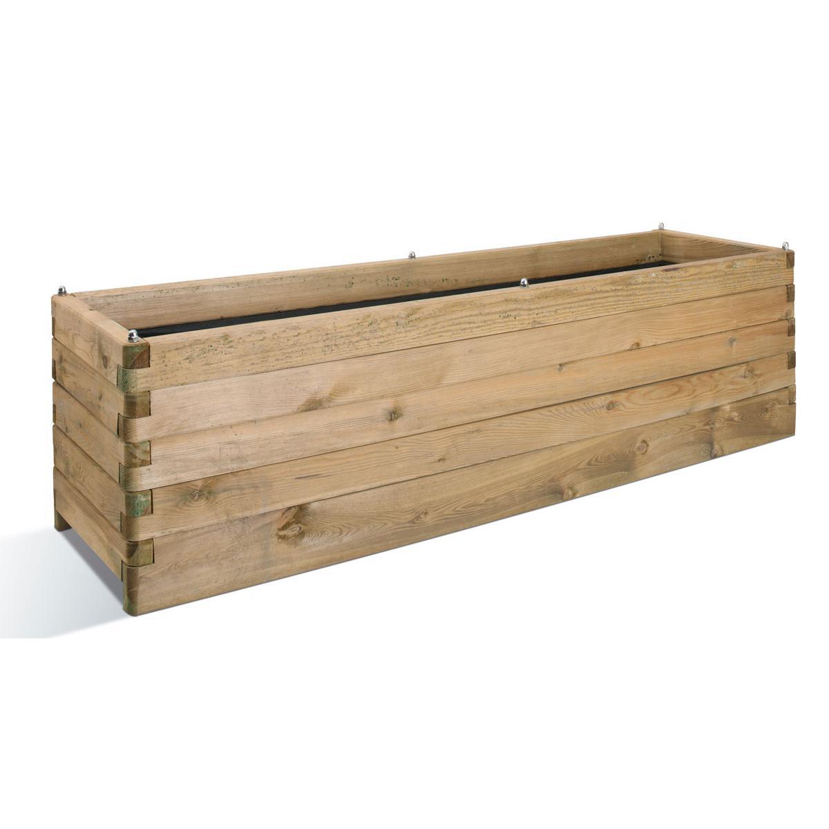 Jardipolys Jardinière en bois Oléa rectangulaire 180