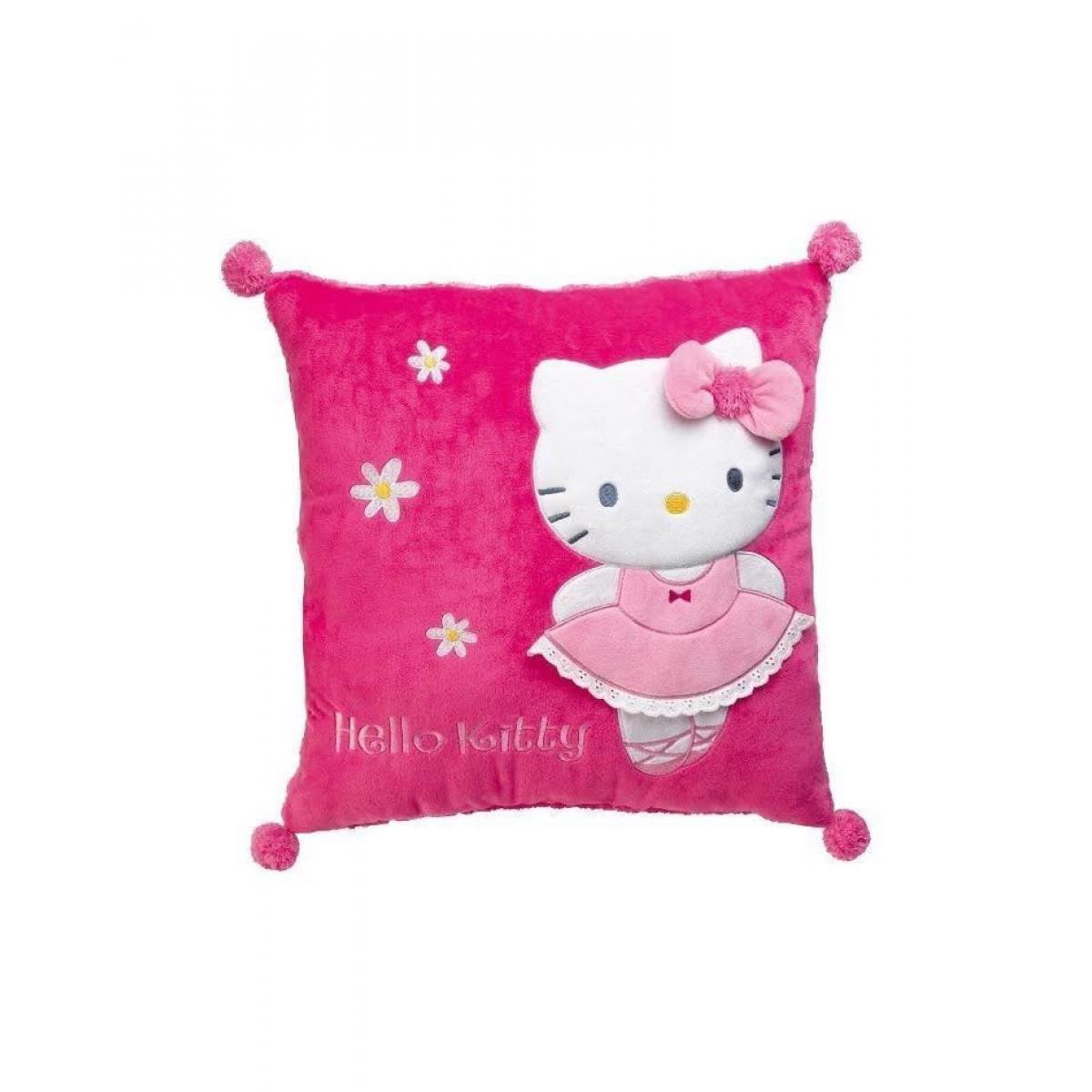 Jemini/Fun House Fun House Hello Kitty coussin carre 35 x 35 cm pour enfant