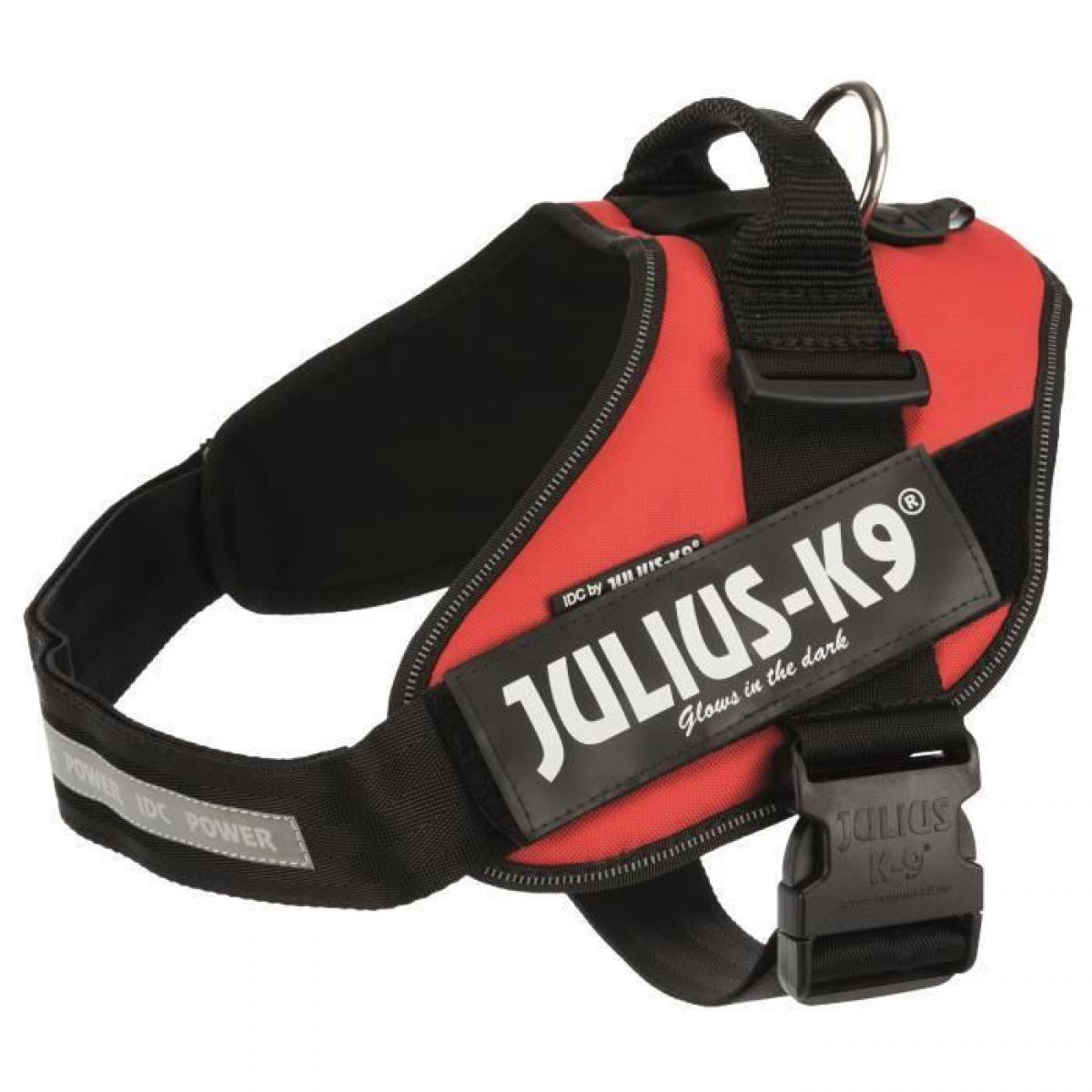 Julius K9 JULIUS K9 Harnais Power IDC 2-L-XL : 71-96 cm - 50 mm - Rouge - Pour chien