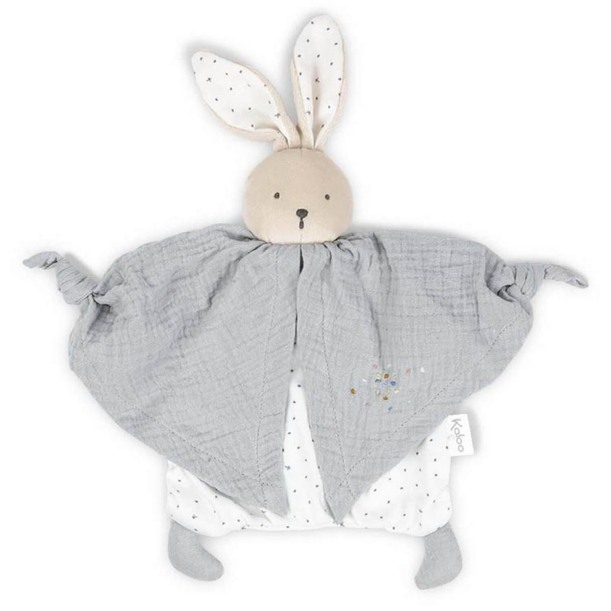 Kaloo Kaloo - Petit pas - doudou coton bio lapinou gris