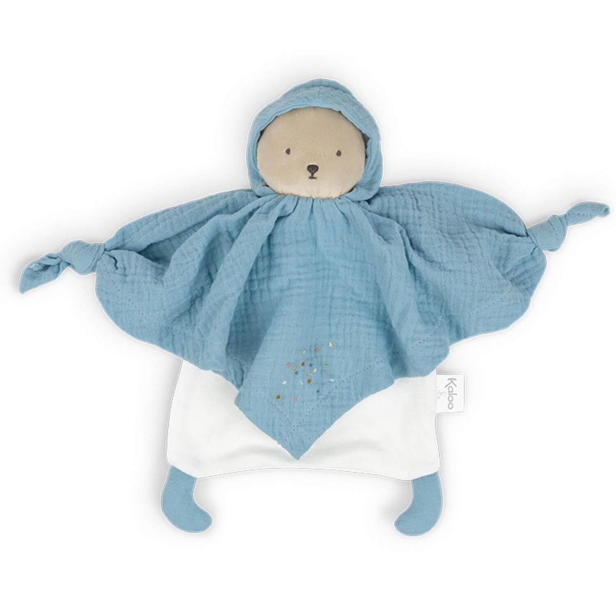 Kaloo Kaloo - Petit pas - doudou coton bio ourson bleu