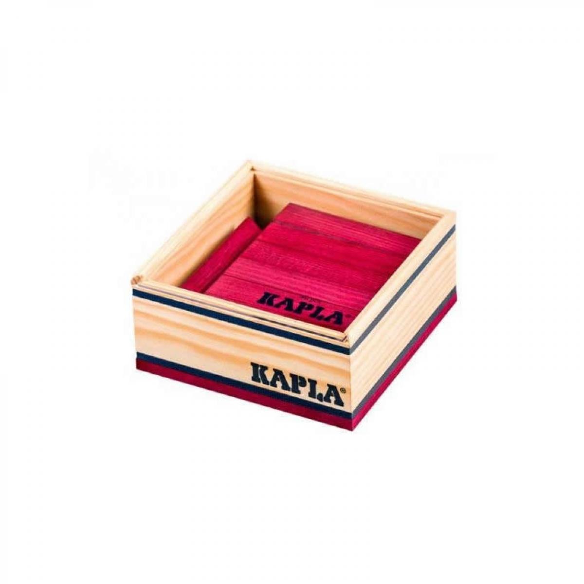 Kapla Kapla - Carré de 40 planchettes en bois prune