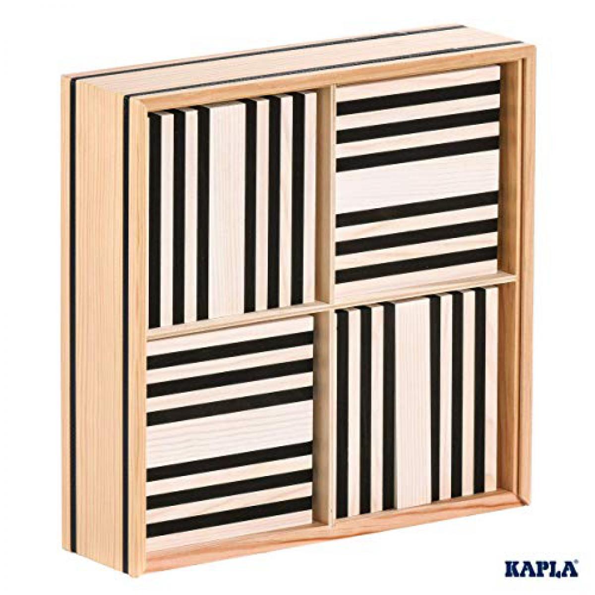 Kapla La planchette magique Kapla Boite 100 pieces Noir et Blanc